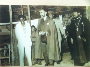 Emperor Haile Selassie with a young Asfaw Yemiru