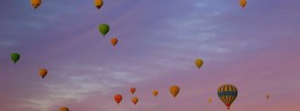 Ballooning over Cappadocia at sunrise. We counted 92 balloons.
